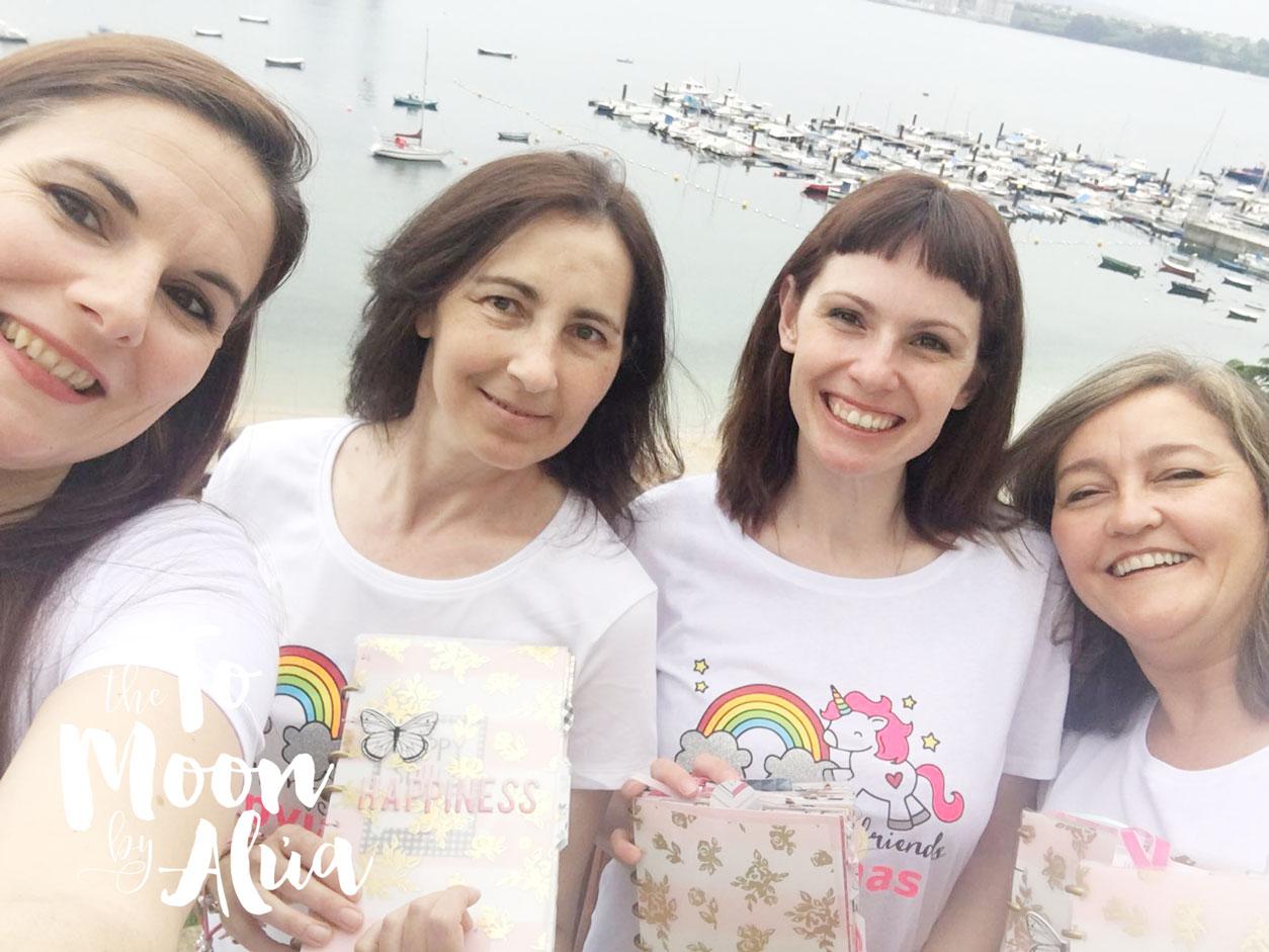 selfie con nuestras camisetas