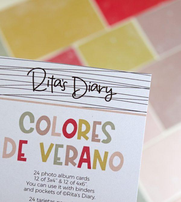 Set de tarjetas Colores de verano