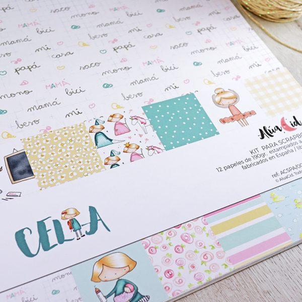 Kit para scrapbooking Celia