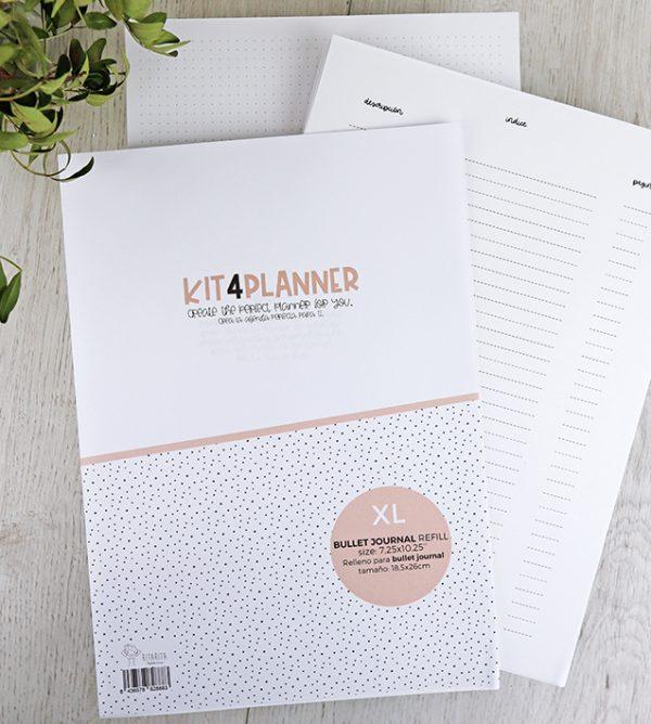 Relleno Bujo XL Kit 4 planner