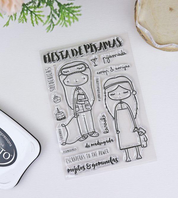 Set de Sellos de Alúa Cid | Fiesta de Pijamas