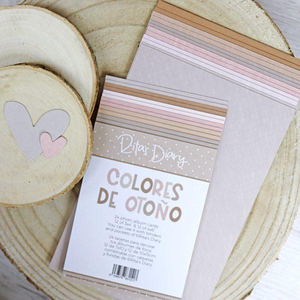 Set de tarjetas Colores de otono para ritas diary