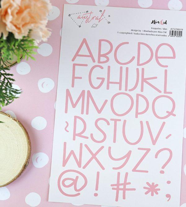 Set de troqueles ABC Candy 35 piezas