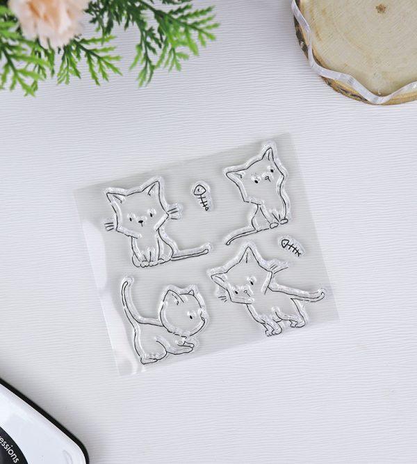 Set de sellos Kittys de pequeño panda