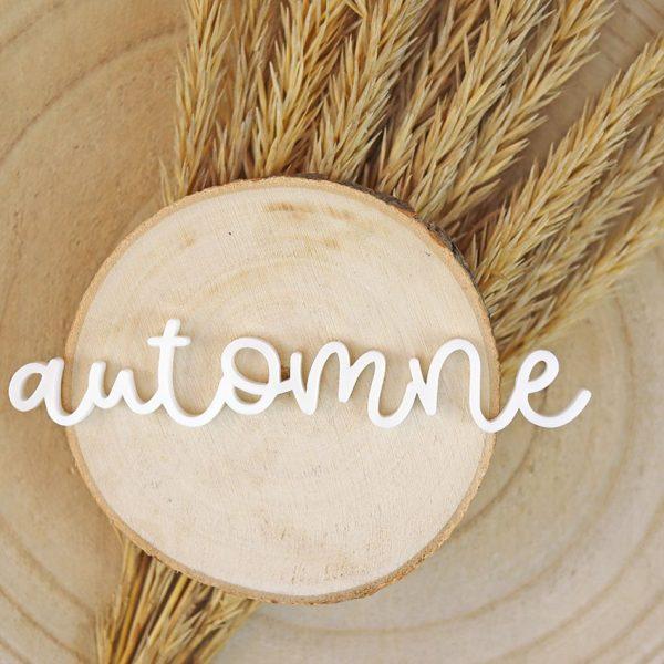 adorno palabra automne metacrilato blanco