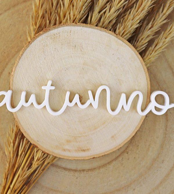 adorno palabra autunno metacrilato blanco autunno