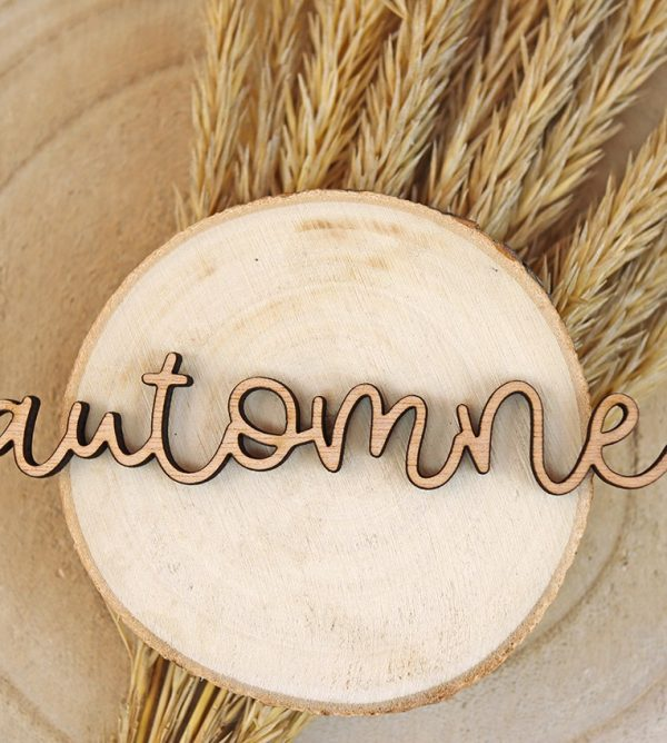 adorno de madera automne 10 cm