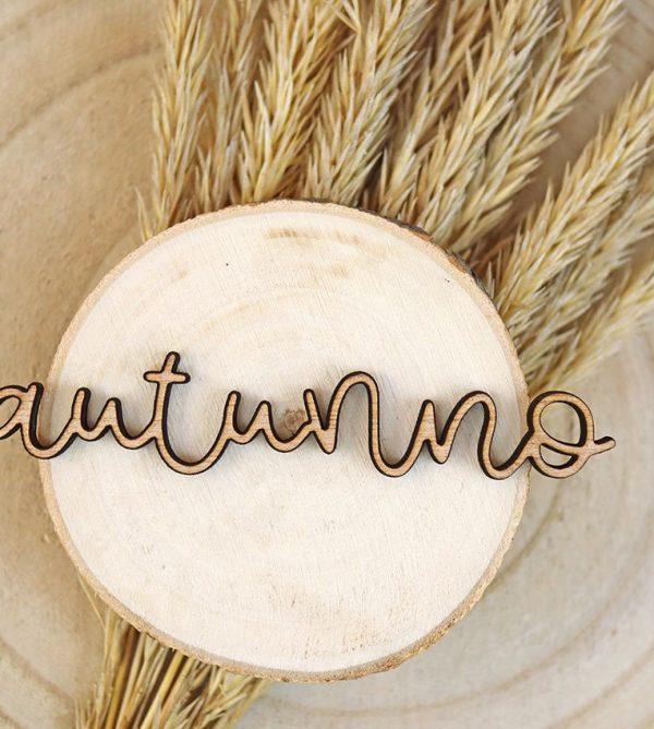 adorno de madera autunno 10 cm