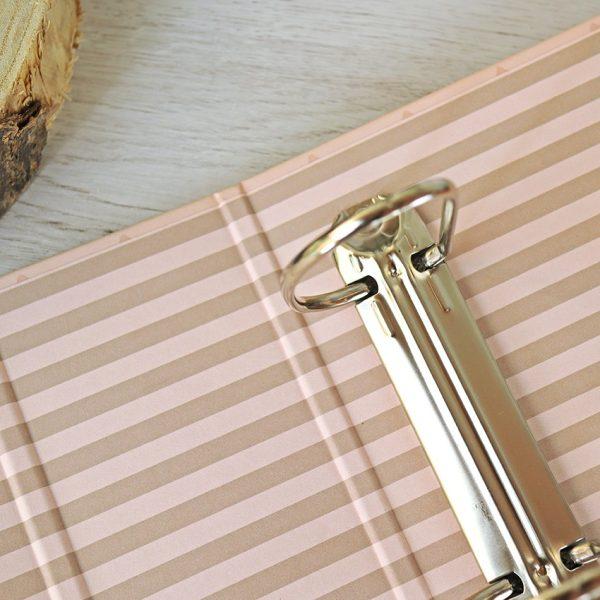 carpeta para fotos rosa