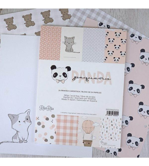 bloc para scrapbooking pequeño panda