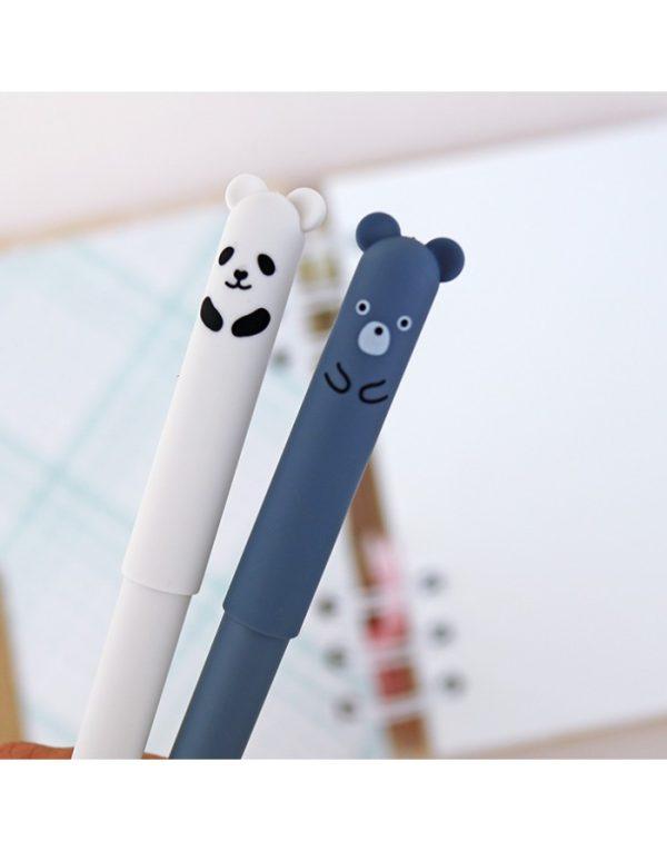 Set bolígrafos borrables ositos tinta negra