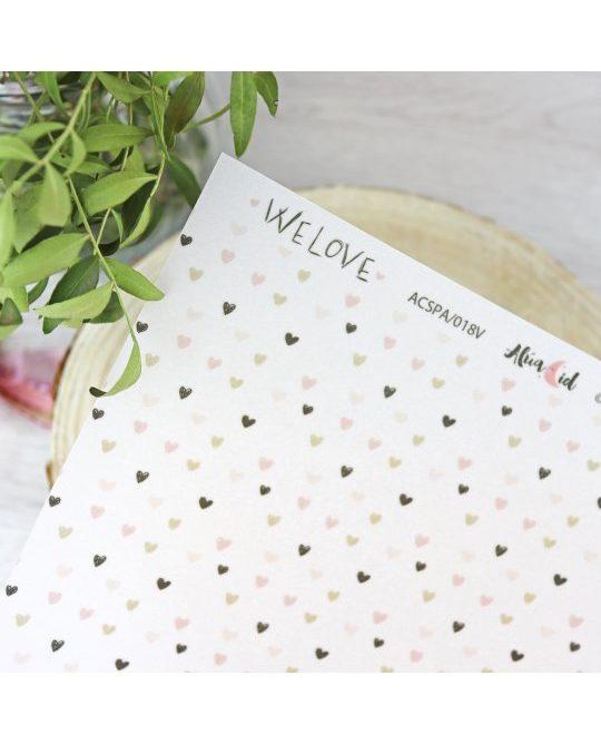 papel vegetal we love corazones