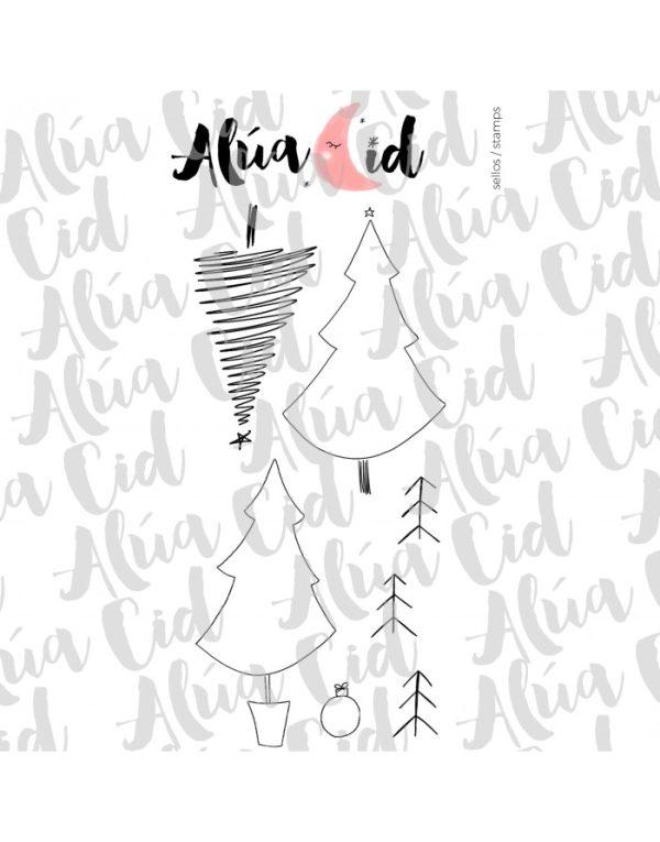 sello arbol de navidad de alua cid