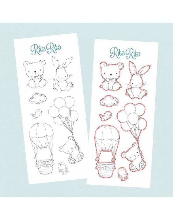 Set de sellos + troquel Panda XL colección Pequeño Panda