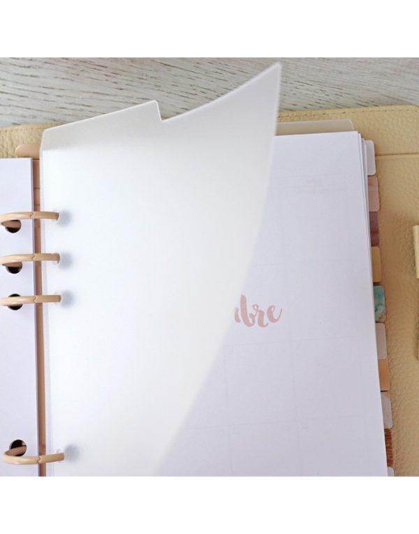 Set de 3 separadores transparentes para agenda