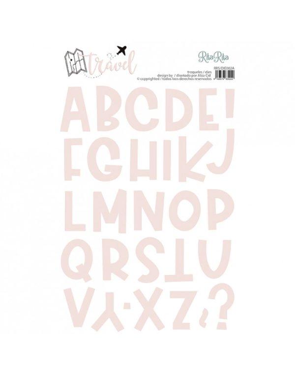 Troquel letras para scrapbooking