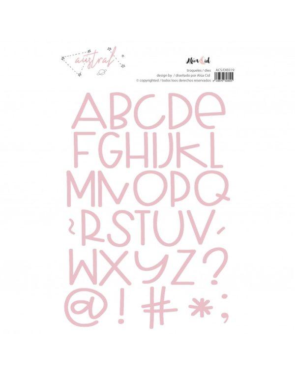 Troquel alfabeto para scrapbooking