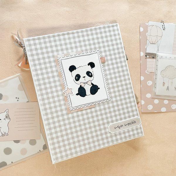 123 taller album fotos de bebé rosa Pequeño Panda