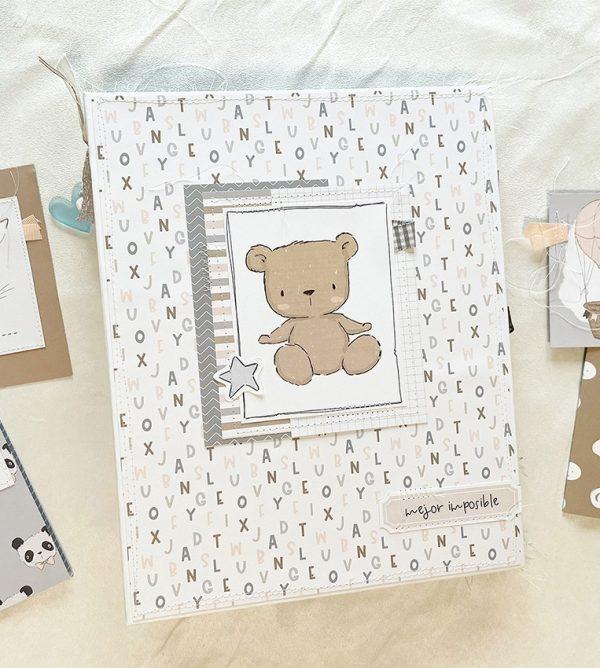 123 taller album de fotos de bebé azul Pequeño Panda