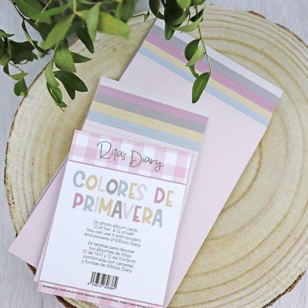 Set de tarjetas Colores de primavera para ritas diary