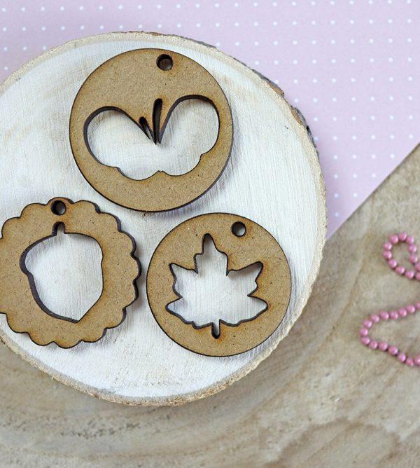 set medallones golpino en madera DM
