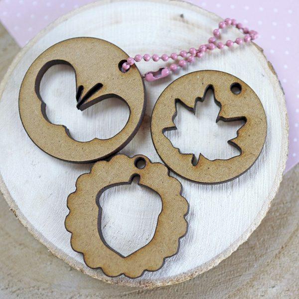 Set medallones en madera DM de Golpiño