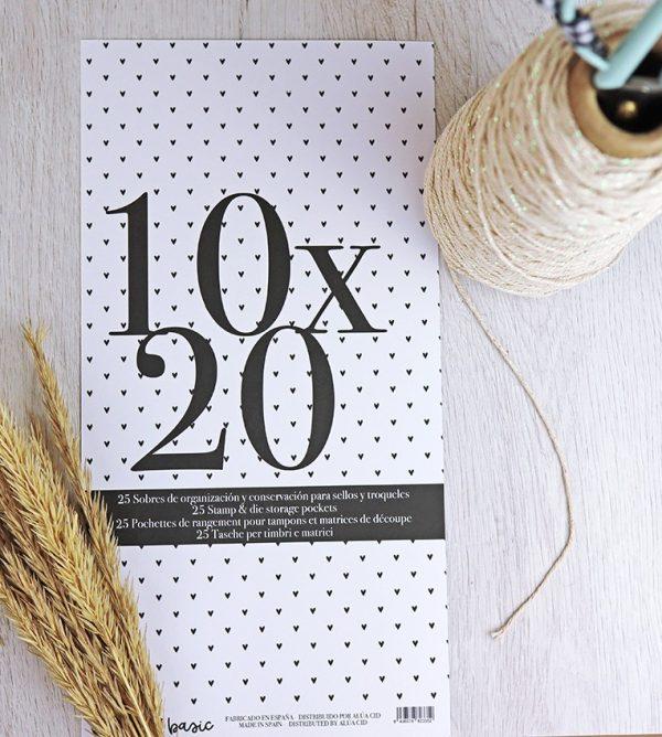 sobres organización 10x20 cm para sellos de scrapbooking
