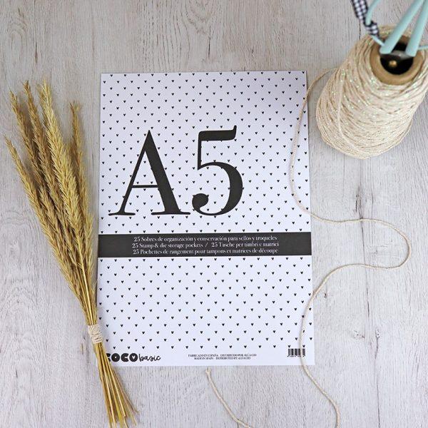 sobres organización a5 para sellos de scrapbooking