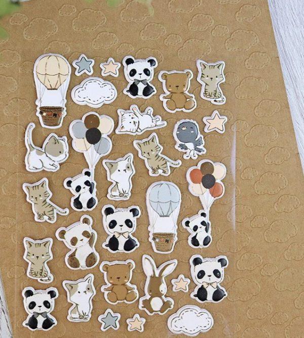 set de pegatinas para scrapbooking y papeleria