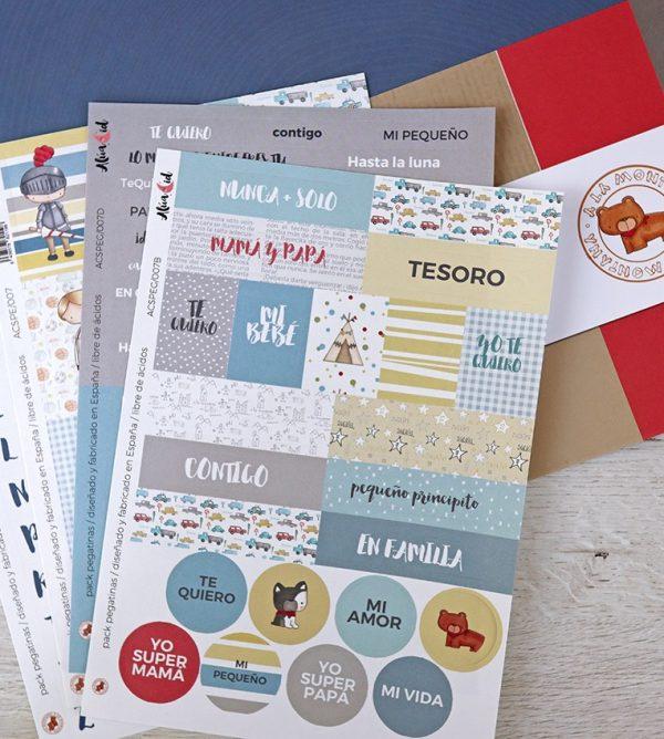pegatinas para scrapbooking y papeleria